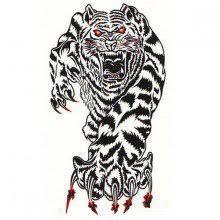 Karnevalové Nalepovací Tetování Tygr