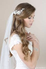 Wedding Hairstyles Down 21 Awesome 24 HalfUp HalfDown Bridal Hairstyles With Veil Wedding Hair