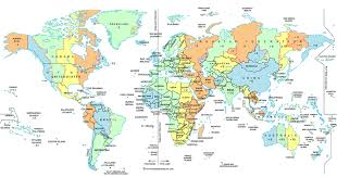 Time Map World Time Zone Map