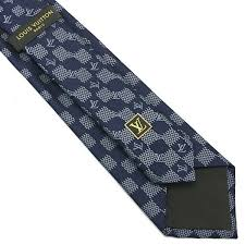 louis vuitton tie. louis vuitton navy damier anniversary tie n
