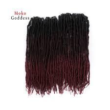 Mokogoddess 18 Inch Dreadlocks Synthetic Hair Extensions