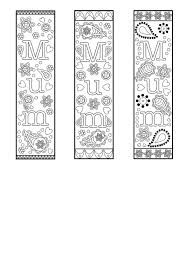 Free printable blank bookmark templates — white and rainbow colors. Free Printable Bookmark Template For Mothers Day Or Mum For Colouring And Gifts