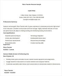 Piano Teacher Resume Sample Best Of Teacher Resumes 24 Free Word PDF Documents Download Free