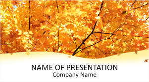 Maple Leaves Powerpoint Template Templateswise Com
