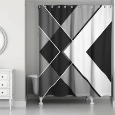 white and black shower curtain. Asymmetrical Angles Shower Curtain In Black/White White And Black