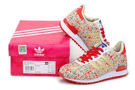 adidas shoes pink and gold. adidas women originals zx 700 running shoes flowers print pink gold white and
