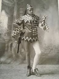 Antique Halifax Opera Court Jester Photo, Felix Quinn Ginger Beer, Black  White | eBay