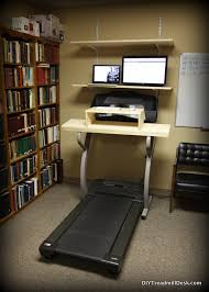 my treadmill desk setup when it was first completed