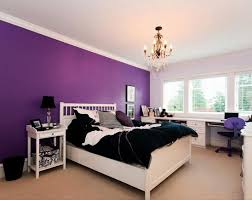 Purple Bedroom Ideas for Elegant and Girly Look  Purple bedroom wall color  ideas with white furniture