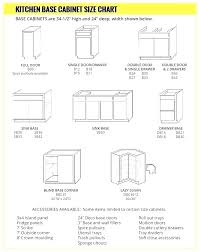 Standard Kitchen Base Cabinet Sizes Chart Standard Kitchen Cabinet Sizes Insidestories Org