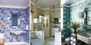 bathroom wallpaper. These Inspiring Baths Will Have You Reaching For Pattern In No Time. Bathroom Wallpaper