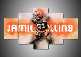 on cleveland browns canvas wall art with cleveland browns jamie collins 5 piece canvas wall art mystorify