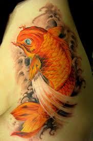 фото тату золотой карп татуировки и эскизы японский карп кои