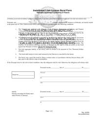 surety bond form fillable online nebraska installment loan license bond form pdf