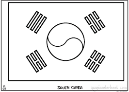 Small Picture South Korea flag coloring pages free