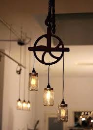 rustic edison bulb chandelier reclaimed home