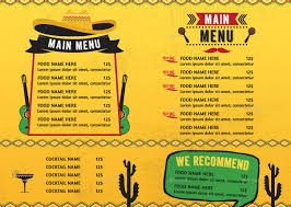mexican food menu. Wonderful Food Mexican Food Menu Intended R