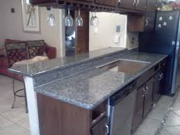 Blue Pearl Granite Countertops With Cherry Cabinets Orlando - Granite countertop kitchen