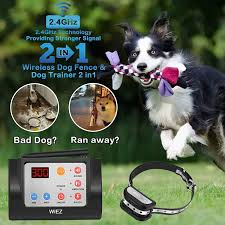 Red Blinking Light On Invisible Fence Collar Wiez Dog Fence Wireless Training Collar Outdoor 2 In 1 Electric Wireless Fence For Dogs W Remote Adjustable Range Control Waterproof Reflective