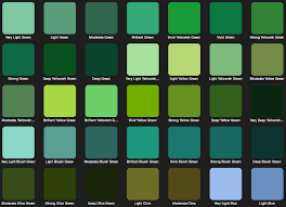 Different Shades Of Green Chart Names Used Commonly For Different Shades Of Green In 2019