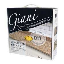 Counter Top Paint Giani Granite Chocolate Brown Countertop Paint Kit Fg Gi Ch Br Kit