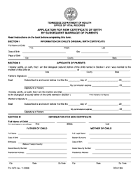 Blank Birth Certificate Pdf Tn 2008 Form Fill Out And Sign