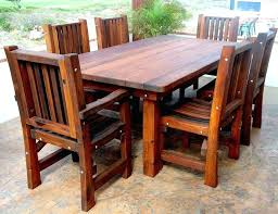 Wooden Outside Table Modern White Garden Chairs Wood Patio Furniture