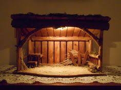 christmas stable. Simple Christmas Nativity Stable Manger Crche Barn Handcrafted In USA Dimensions Are 19 And Christmas Stable