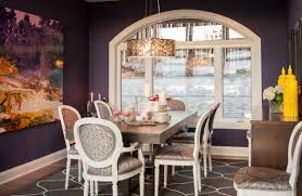 view in gallery modern dining room with a drum pendant that adds a hint of metallic tinge