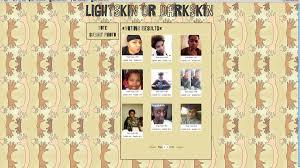 African American Complexion Chart Nate Hill 39 S 39 Lightskin Or Darkskin 39 Website Asks