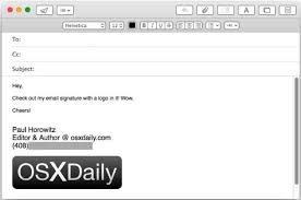 How To Add An Image To Email Signature In Mail For Mac