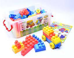 Bộ đồ chơi xếp hình mầm non Sato60 (68 chi tiết)