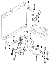 parts com® geo tracker radiator hoses oem parts 1992 geo tracker base l4 1 6 liter gas radiator hoses