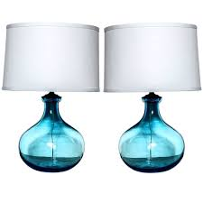 fantastic blue glass table lamps decoration sensational turquoise within aqua glass table lamp