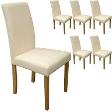 cream dining chair padded set of  cream faux leather torino dining chairs cream with padded seat