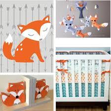 woodland nursery decor fox nursery