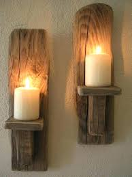 wooden sconces wood candle sconce new wall with additional modern sofa design primitive rustic