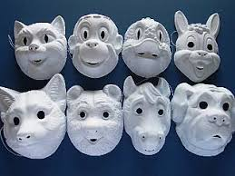 Plastic Masks To Decorate 60 Moulded Plastic Animal Masks to Decorate childrens crafts 8