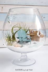 the cutest diy fairy garden learn how to make a beach mini garden terrarium