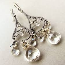 custom made large chandelier earrings sterling silver wedding