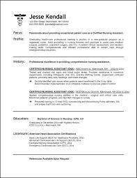 cna resume skills resume template