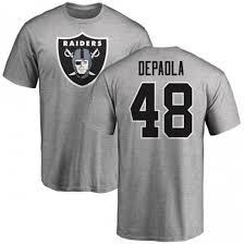 Raiders Andrew Number amp; T-shirt Men's Oakland Logo - Depaola Ash Name