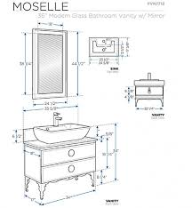 fresca moe 36 x 18 modern glass bathroom vanity fvn7712bl