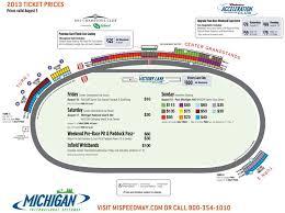 2013 Ticket Pricing Map Michigan International Speedway