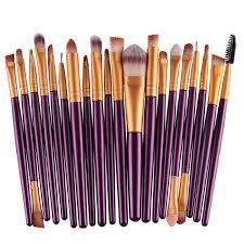 20 pcs make up brush set purple gold