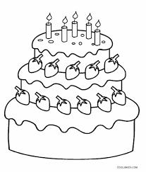 Birthday Cake Coloring Page Free Printable Birthday Cake Coloring