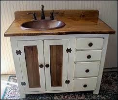 rustic white bathroom vanities. Rustic Farmhouse Vanity - Copper Sink 42 Off-white Bathroom With White Vanities B