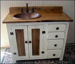 country bathroom vanities. Rustic Farmhouse Vanity - Copper Sink 42 Off-white Bathroom With Country Vanities