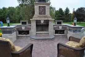 backyard fireplace kit outdoor fireplace ogs landscape services whitby on