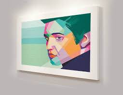 box canvas frame pop art elvis